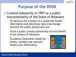 purpose of the dhin