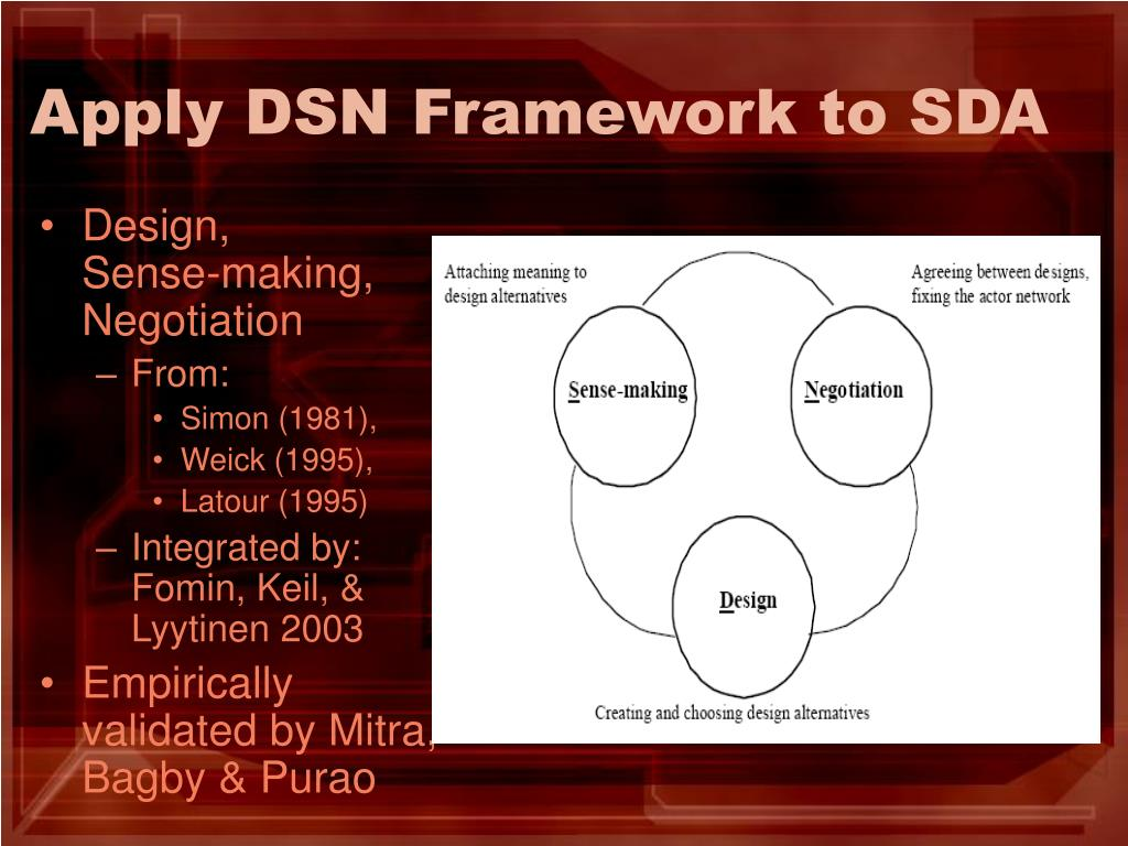 Apply DSN Framework to SDA