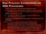 due process constraints on sda processes