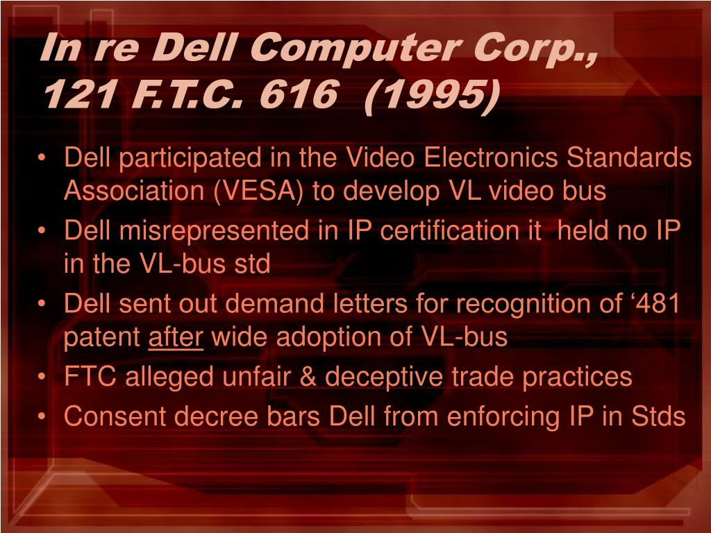 In re Dell Computer Corp., 121 F.T.C. 616  (1995)