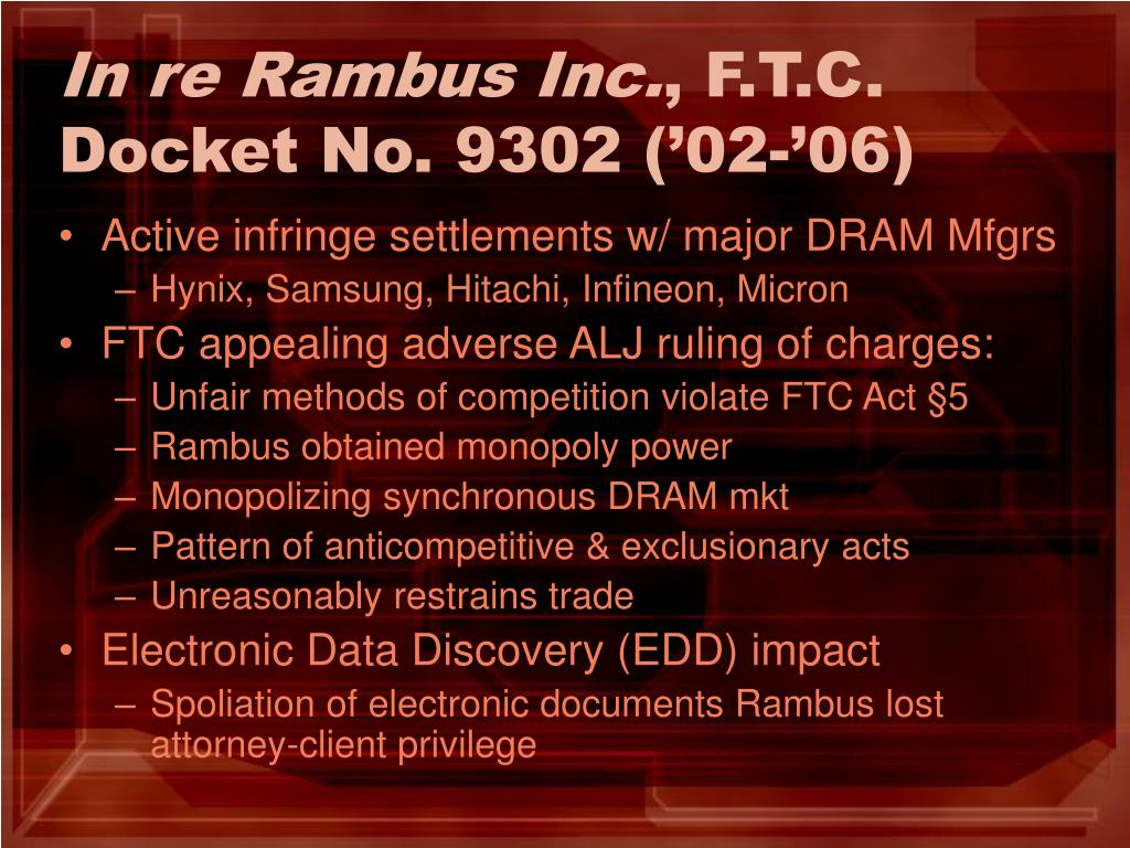 In re Rambus Inc.