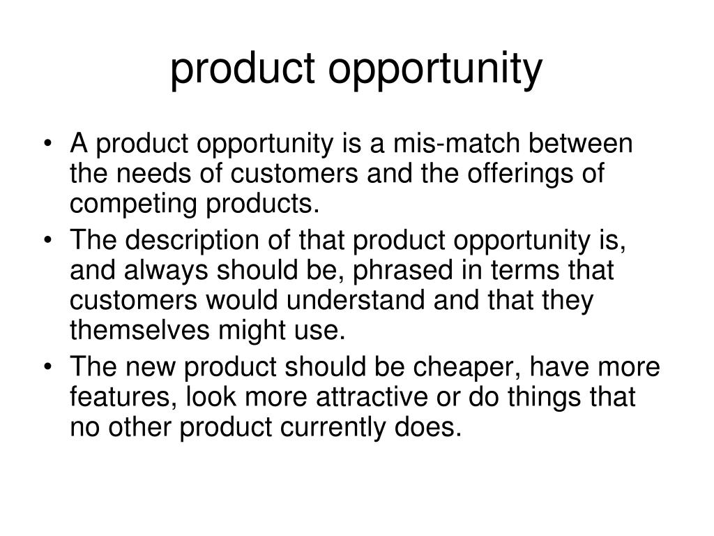 product opportunity
