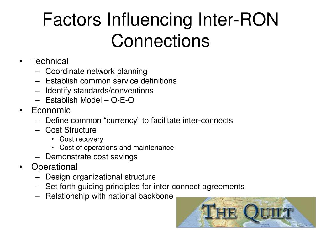 Factors Influencing Inter-RON Connections