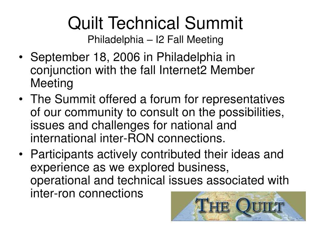 Quilt Technical Summit