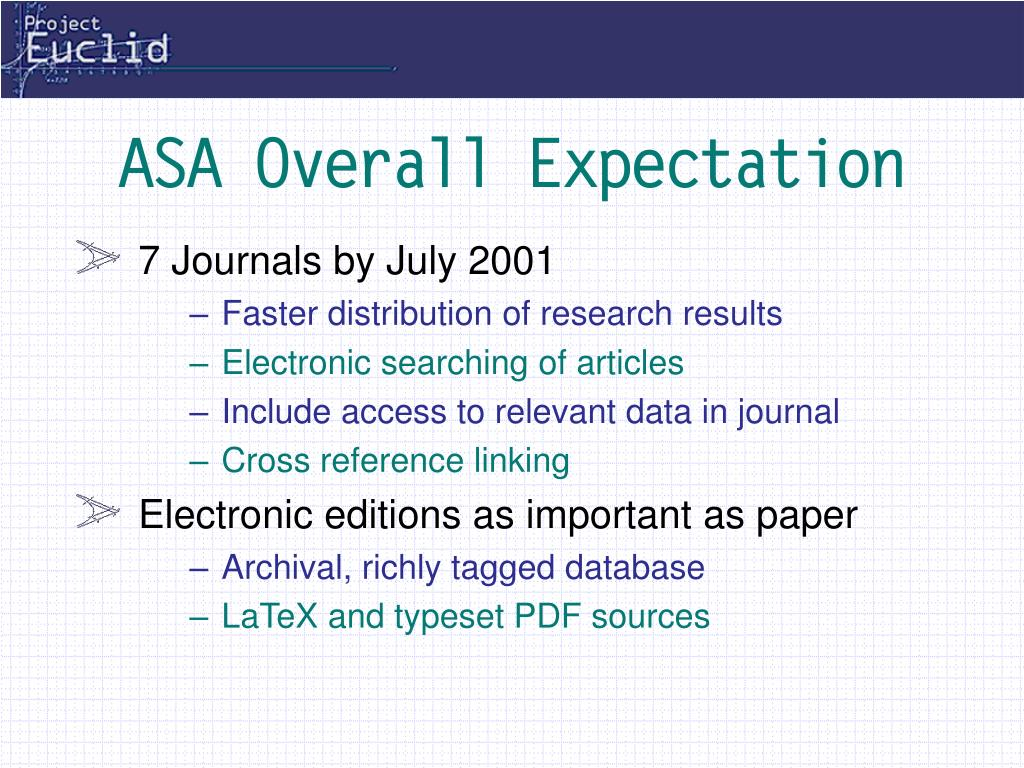 ASA Overall Expectation