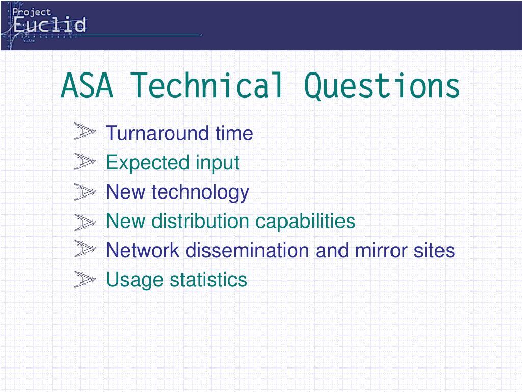 ASA Technical Questions