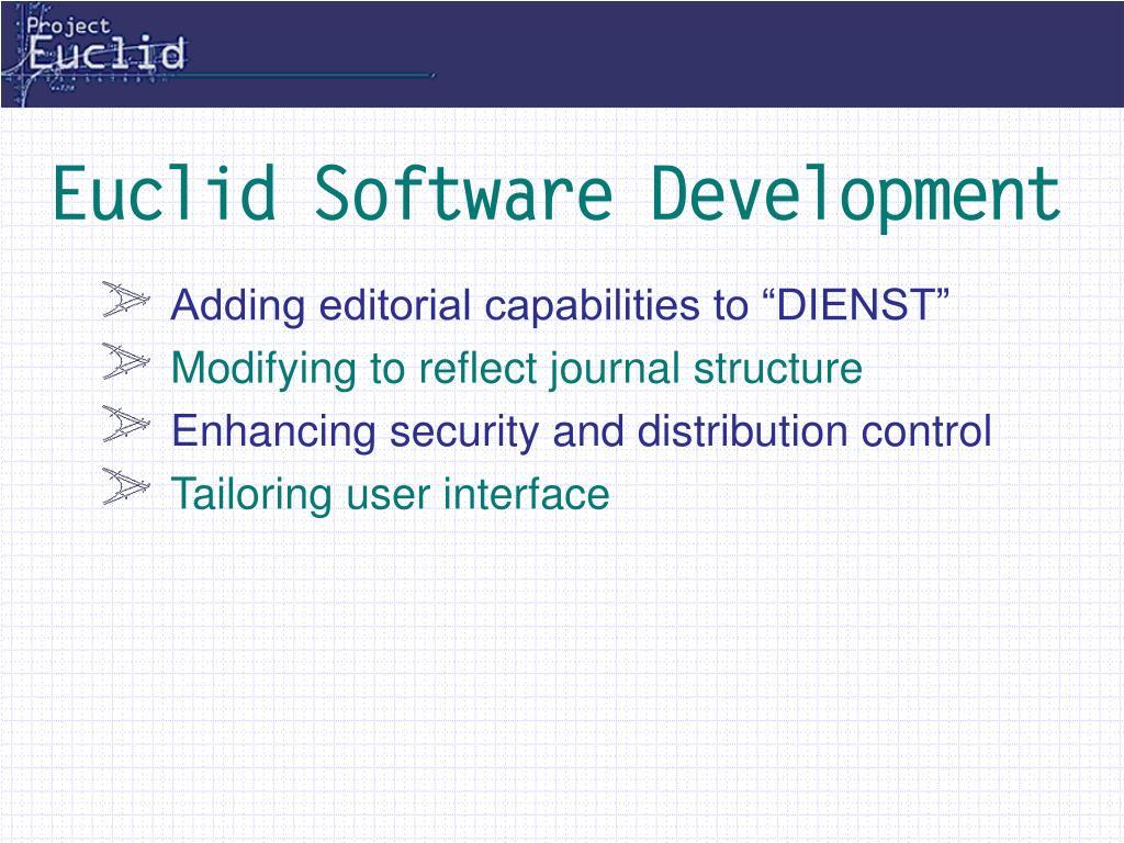 Euclid Software Development