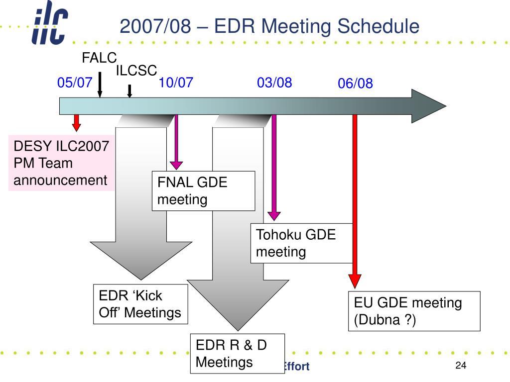 2007/08 – EDR Meeting Schedule