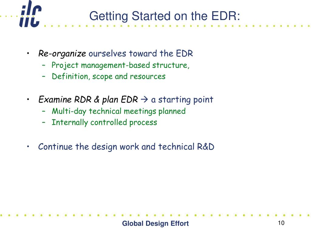 Getting Started on the EDR: