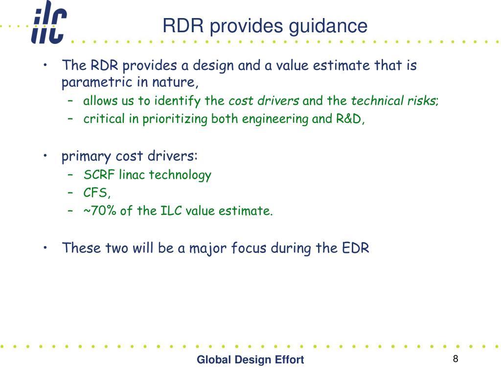 RDR provides guidance