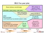 bds five year plan