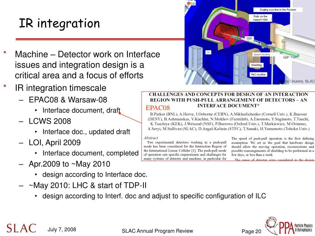 IR integration