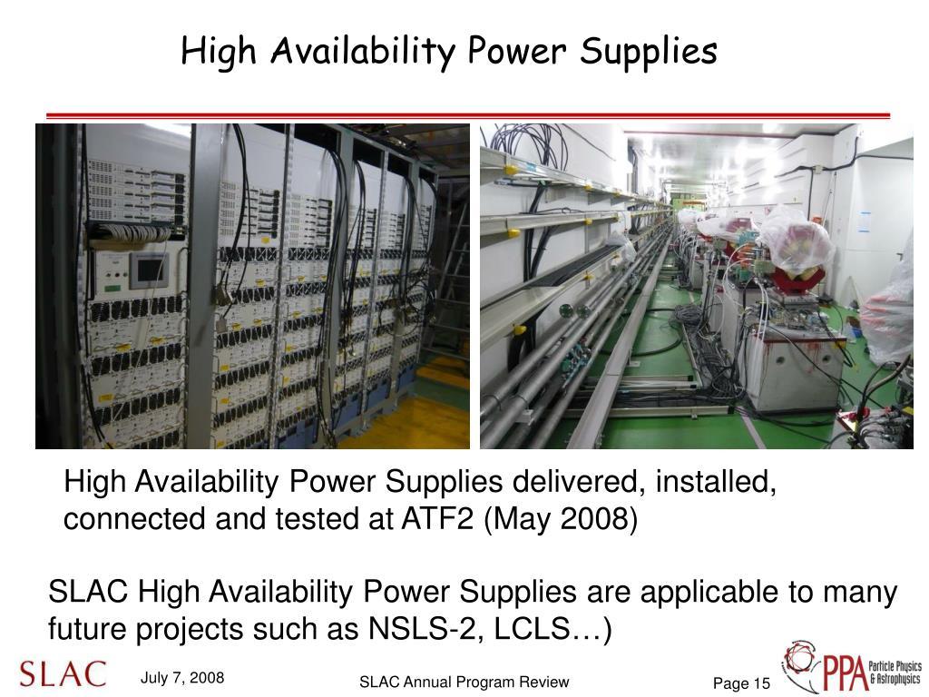 High Availability Power Supplies