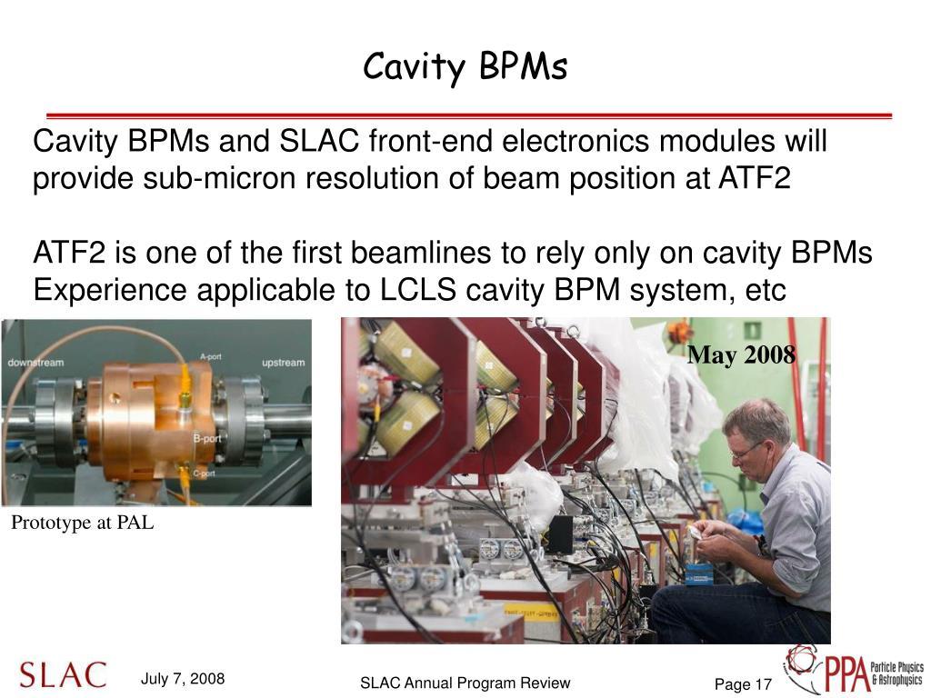 Cavity BPMs