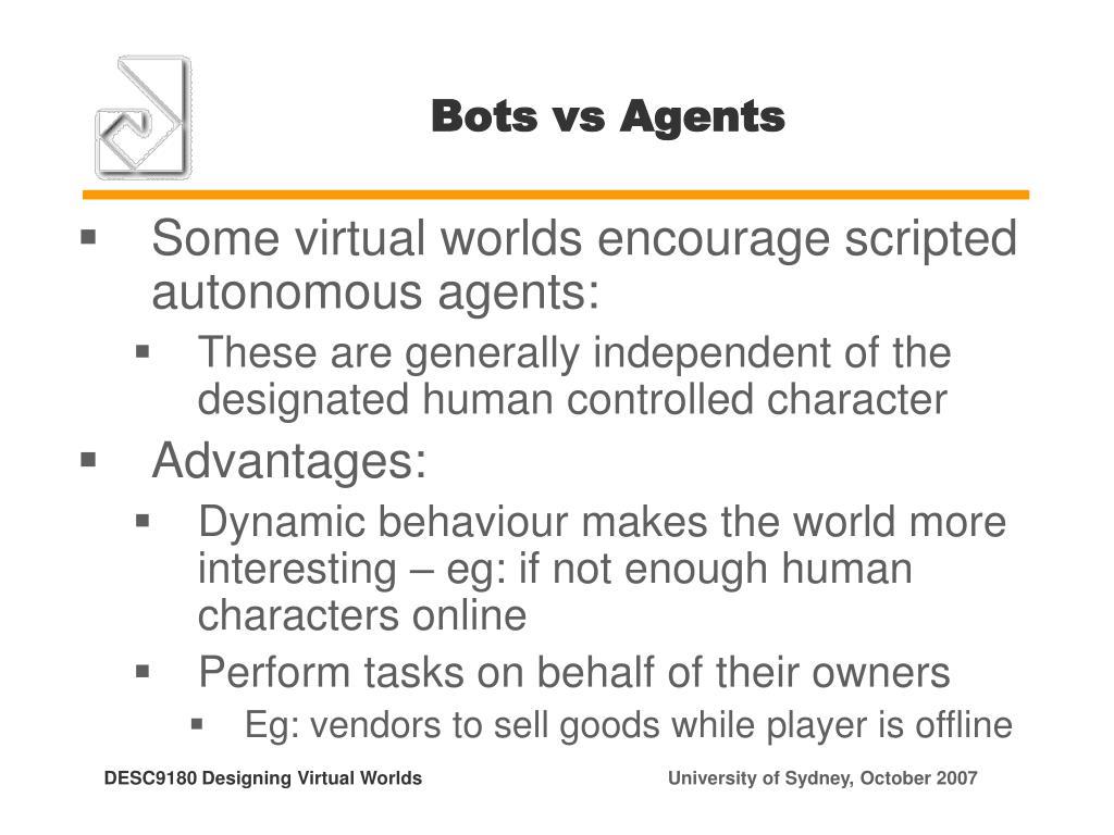 Bots vs Agents