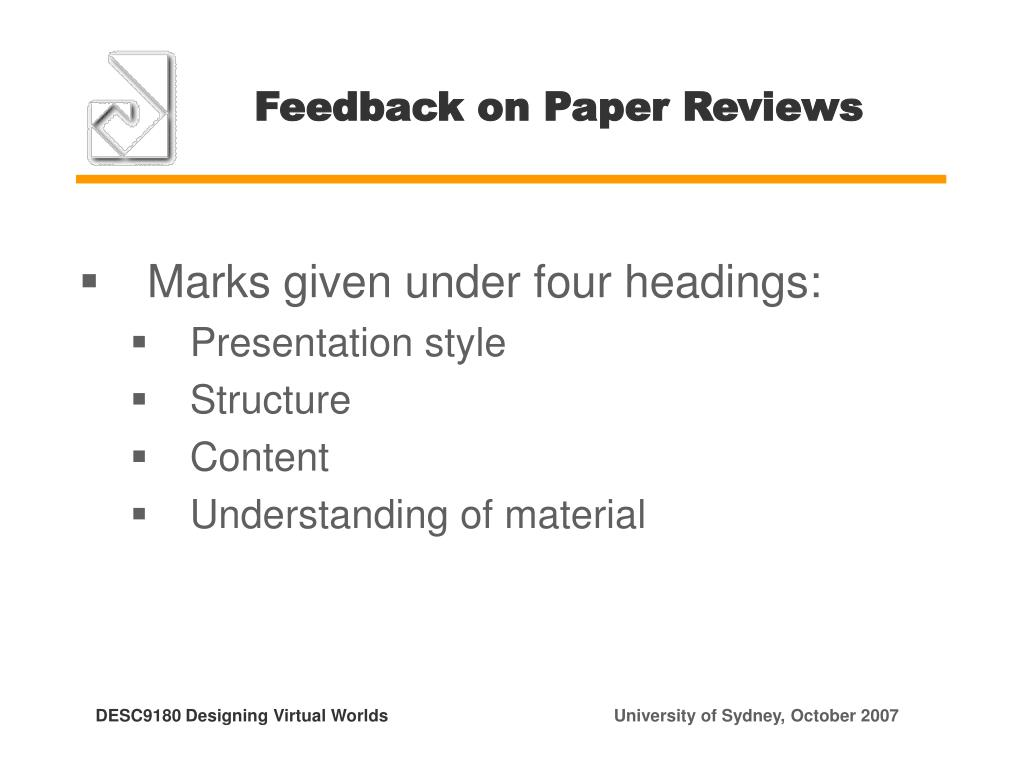 Feedback on Paper Reviews