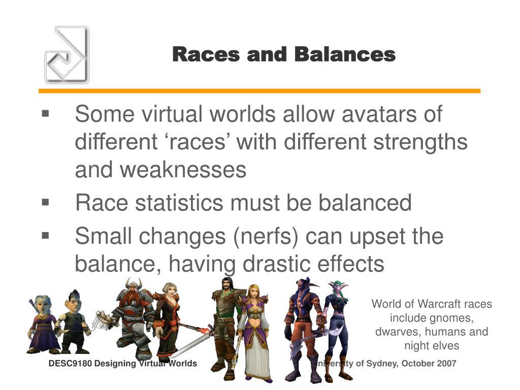 Races and Balances