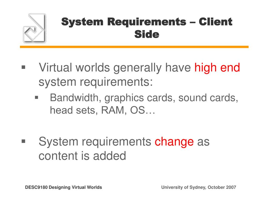 System Requirements – Client Side