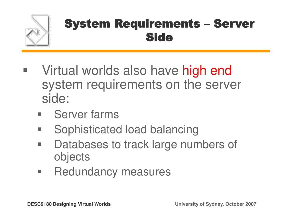 System Requirements – Server Side