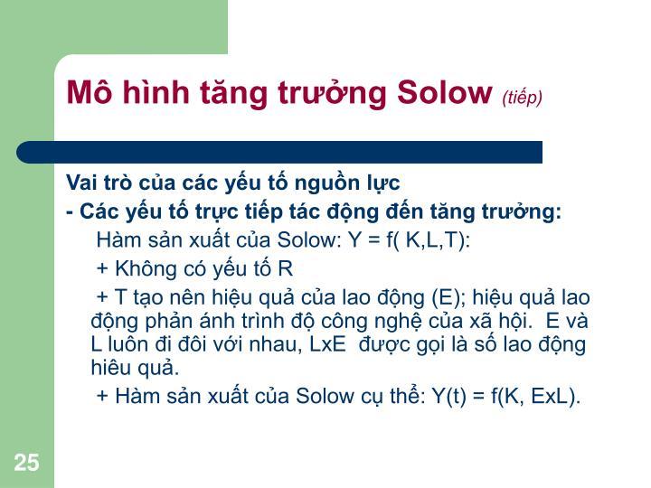 Mô hình tăng trưởng Solow
