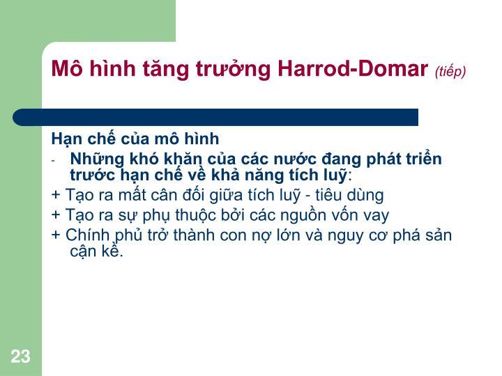Mô hình tăng trưởng Harrod-Domar