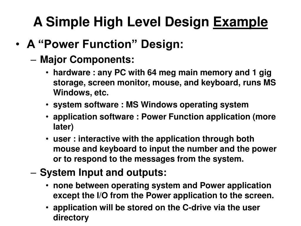 A Simple High Level Design