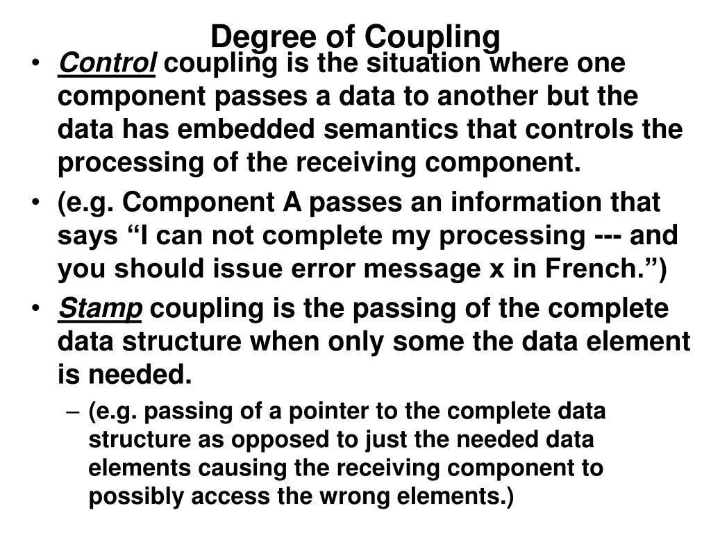 Degree of Coupling