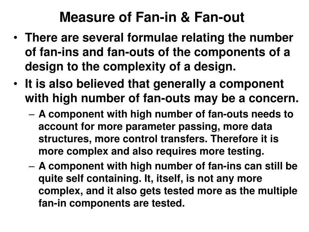 Measure of Fan-in & Fan-out