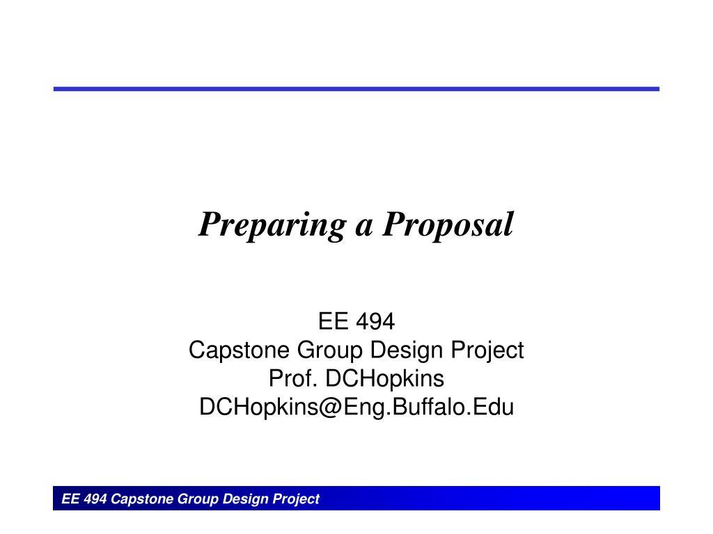 Preparing a Proposal