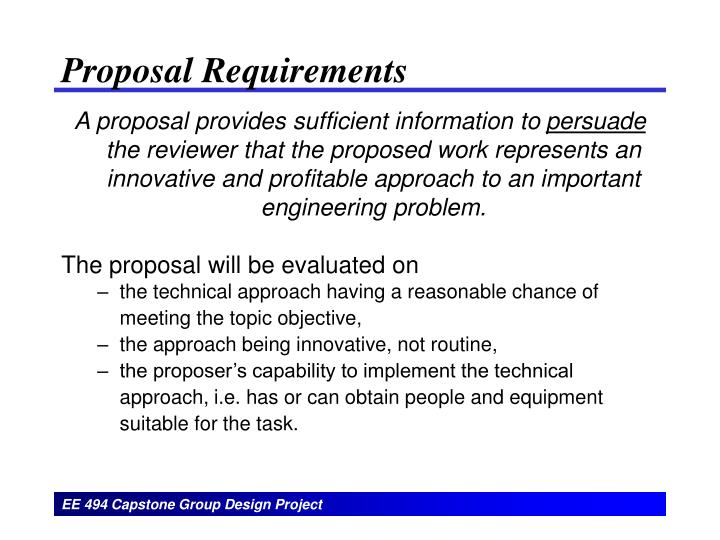 Proposal requirements l.jpg