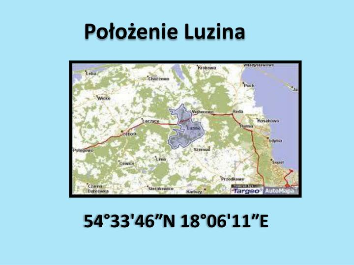 Położenie Luzina