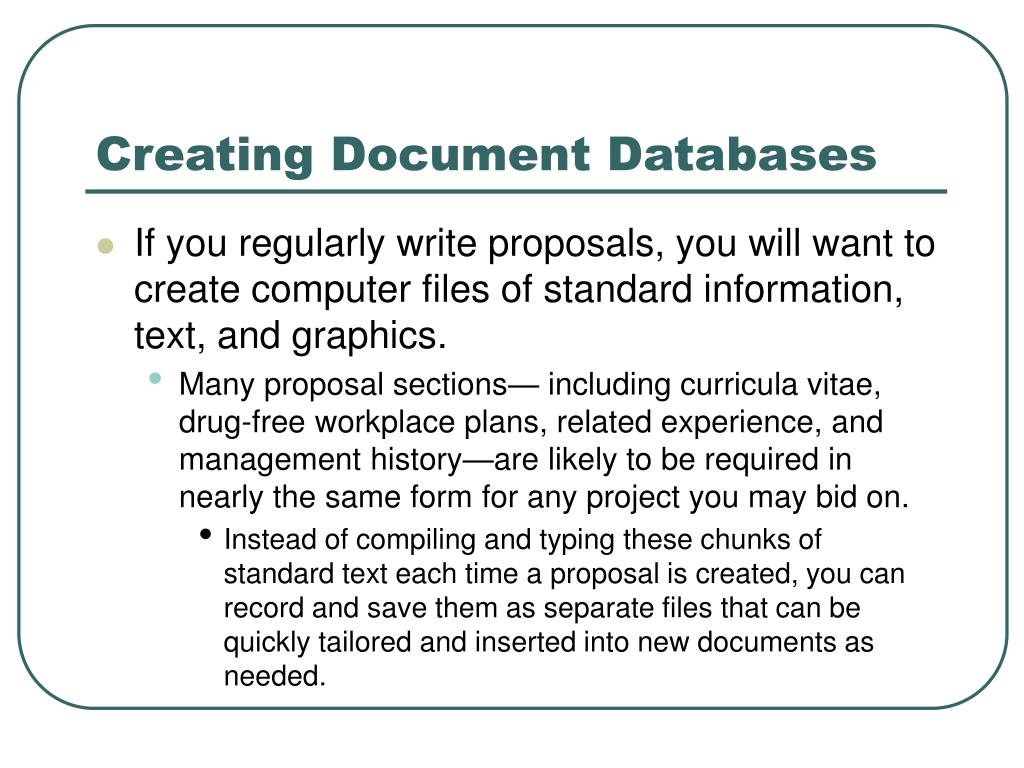 Creating Document Databases