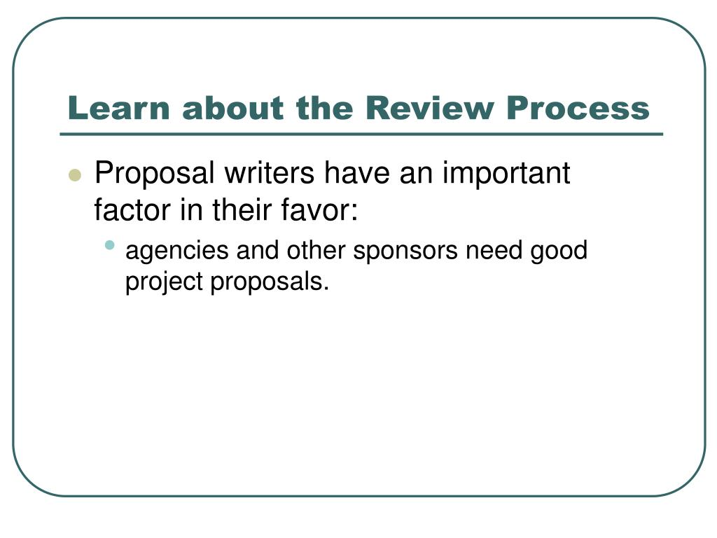 Learn about the Review Process