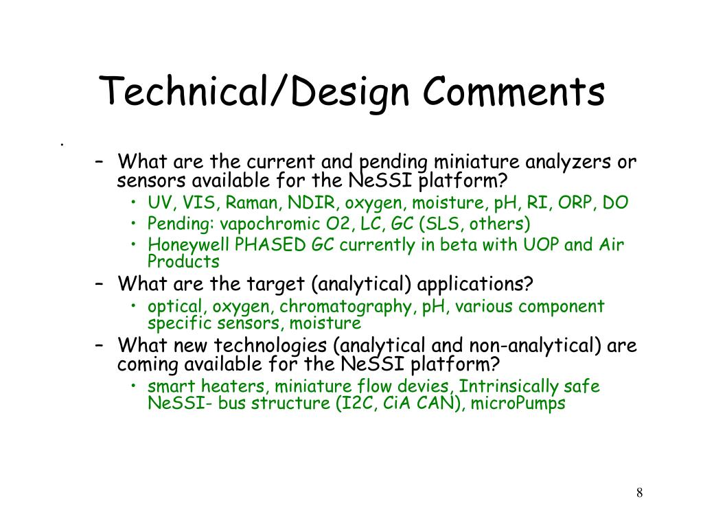 Technical/Design Comments