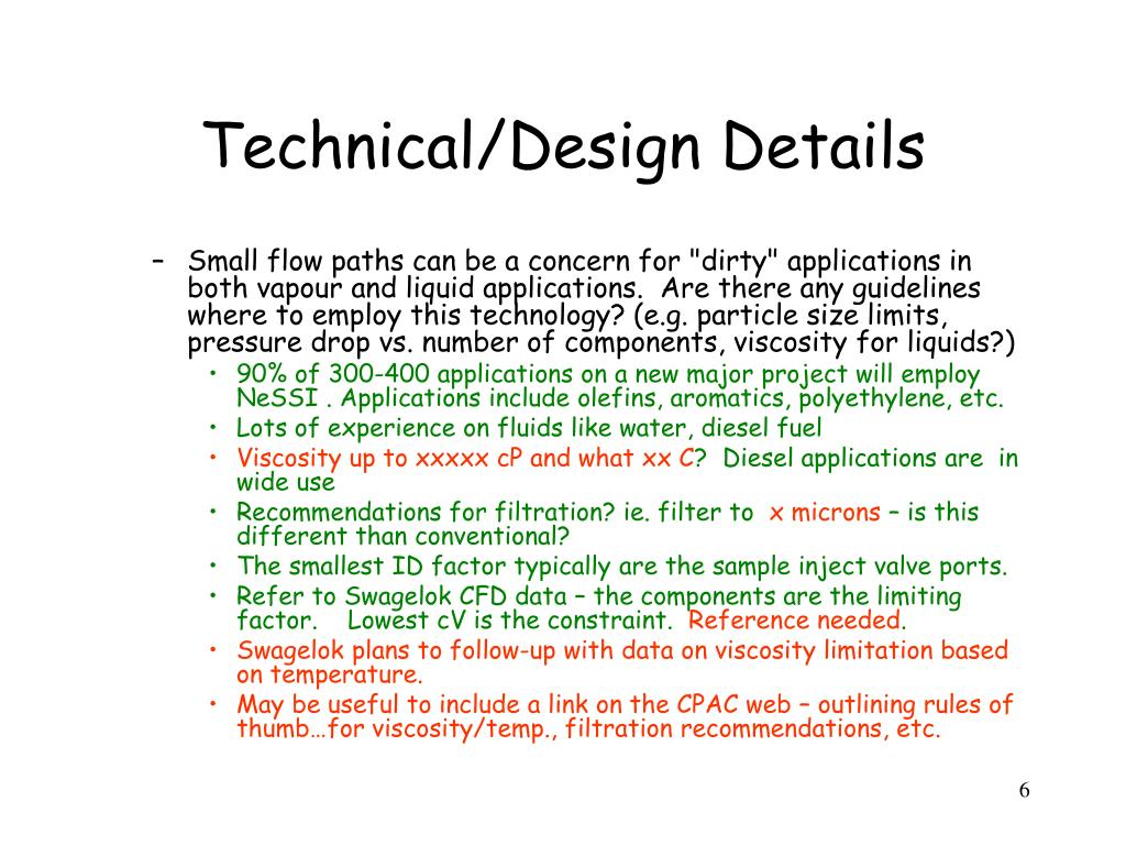 Technical/Design Details