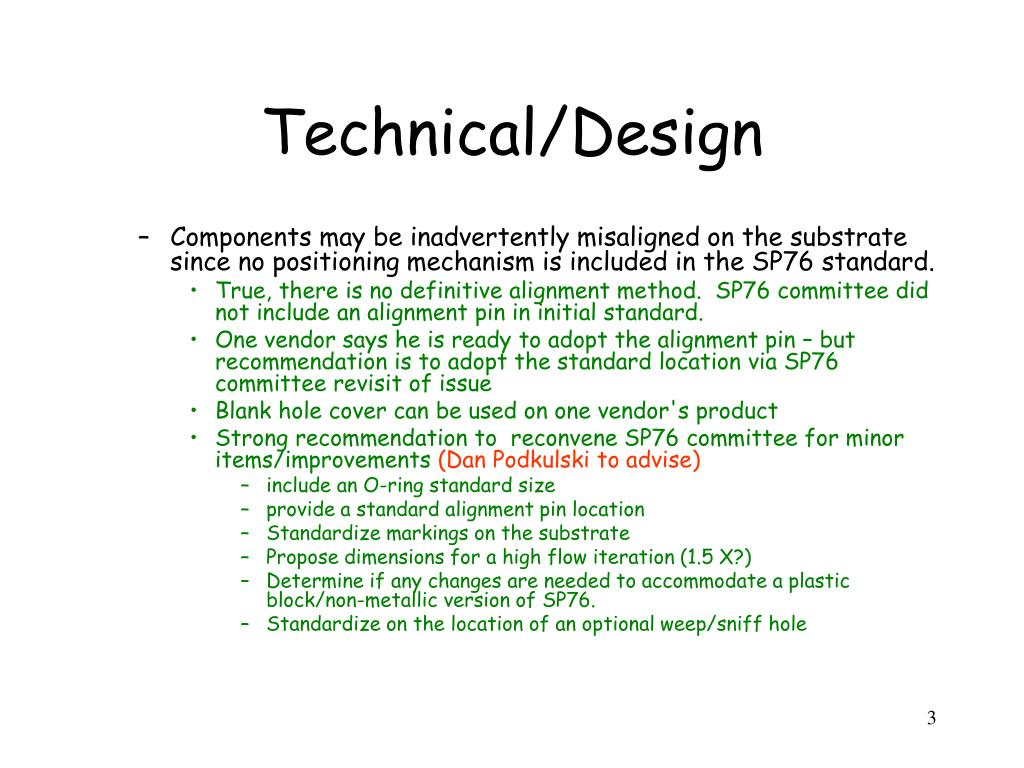 Technical/Design