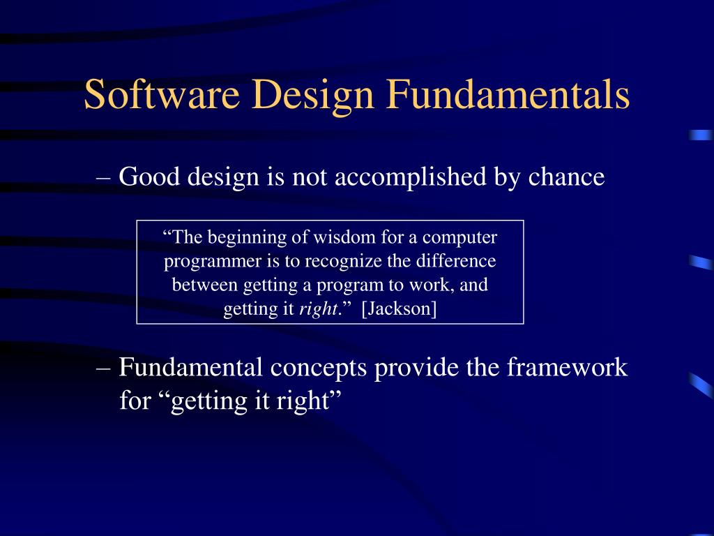 Software Design Fundamentals