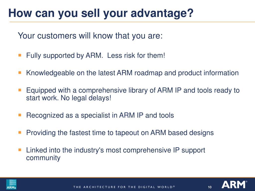How can you sell your advantage?
