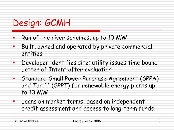 Design: GCMH