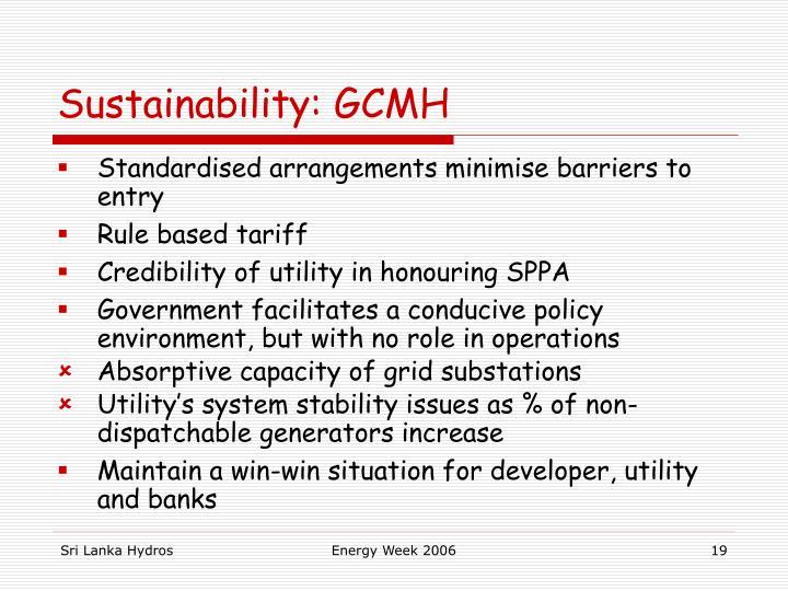 Sustainability: GCMH