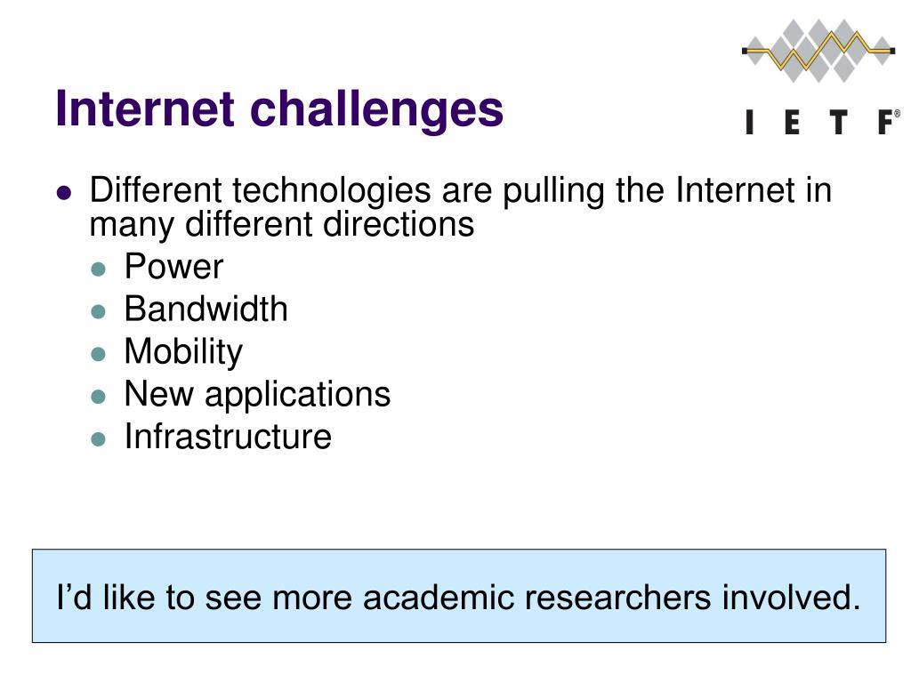 Internet challenges