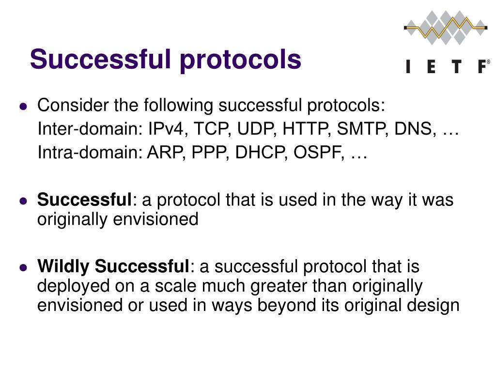 Successful protocols