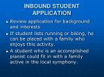inbound student application