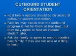 outbound student orientation
