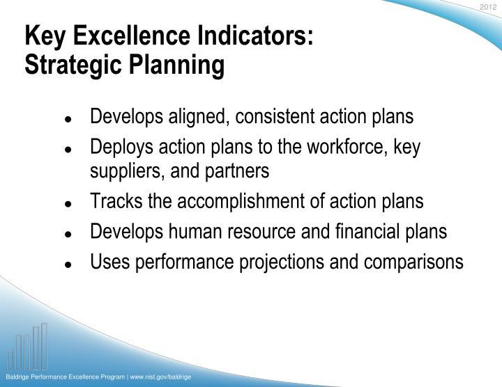 Key Excellence Indicators: Strategic Planning