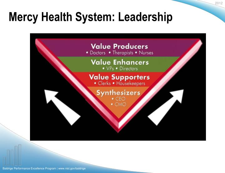 Mercy Health System: Leadership
