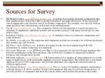 sources for survey
