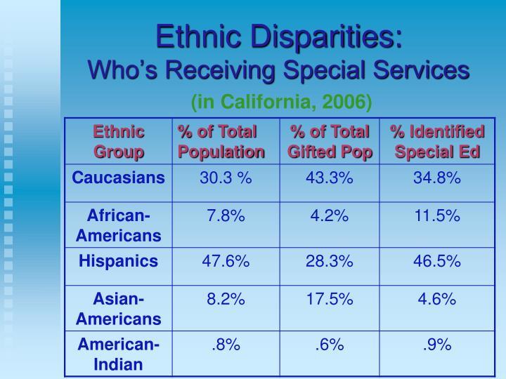 Ethnic Disparities: