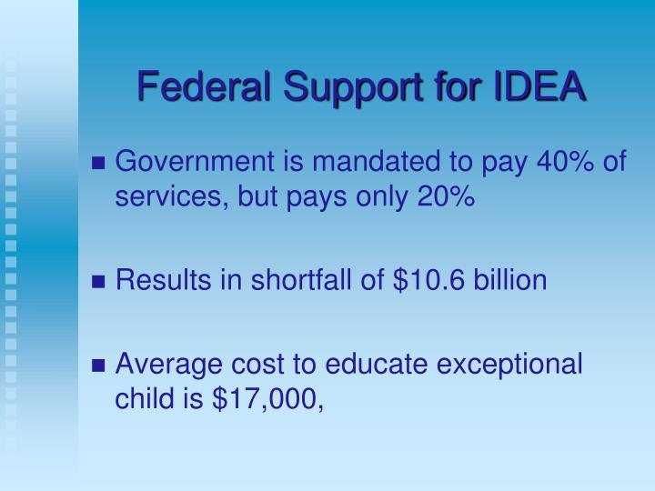 Federal Support for IDEA