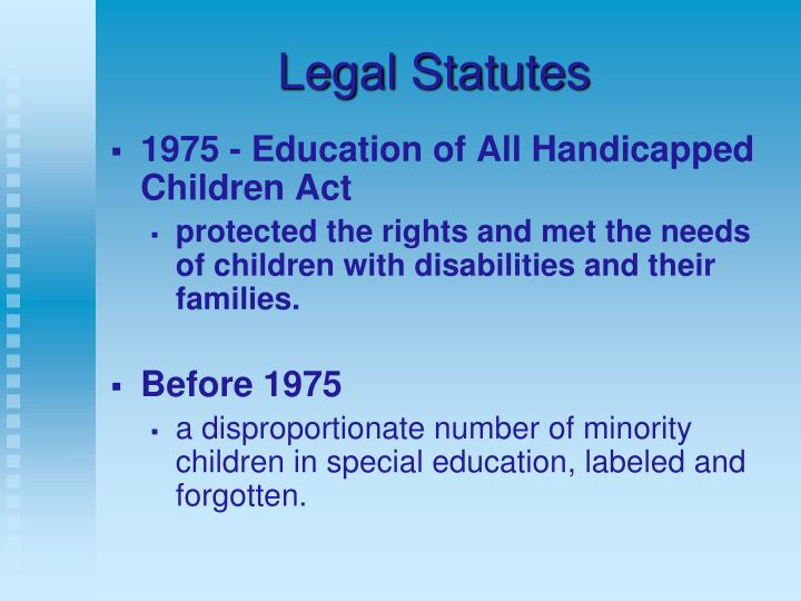 Legal Statutes